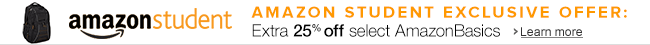 Extra 25% off Amazon Basics for Student Members