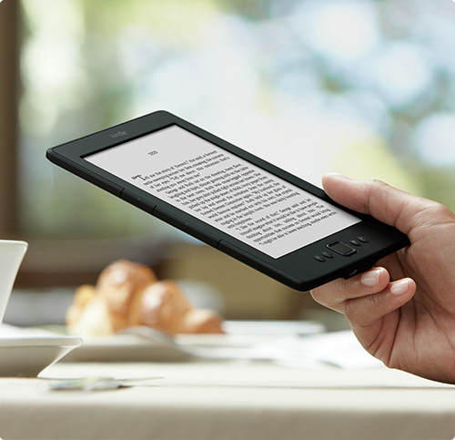 Kindle e-reader: read everywhere