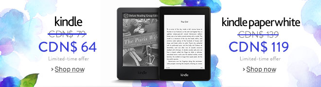 Kindle CDN$ 64, Kindle Paperwhite CDN$ 119