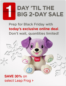 Prep for Black Friday with todays  online deal.