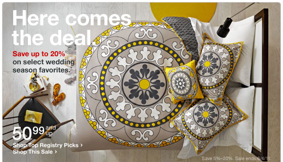 Target - Save up to 20% on Bed & Bath + Spend $50 Get Free Shipping on Select Items 1423993750._V179470003_