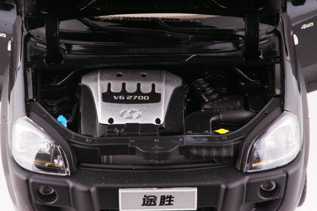 原厂 黑1:18车模 北京现代途胜tucson