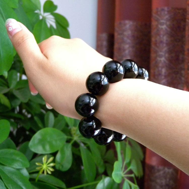 纯天然黑玛瑙手链