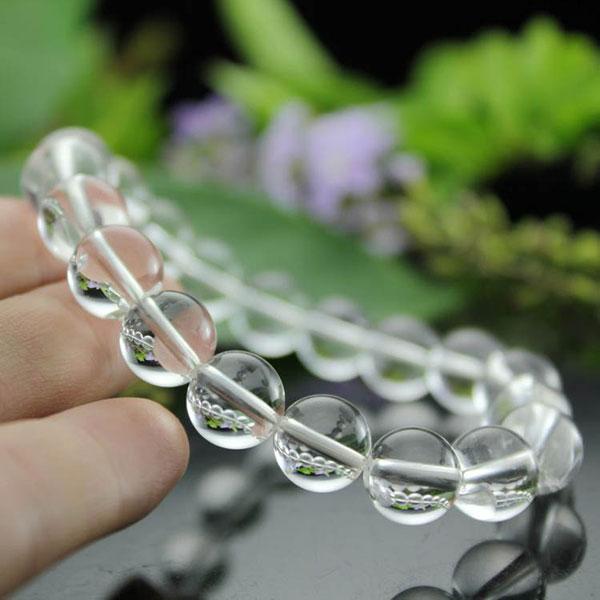 全净纯天然白水晶手链