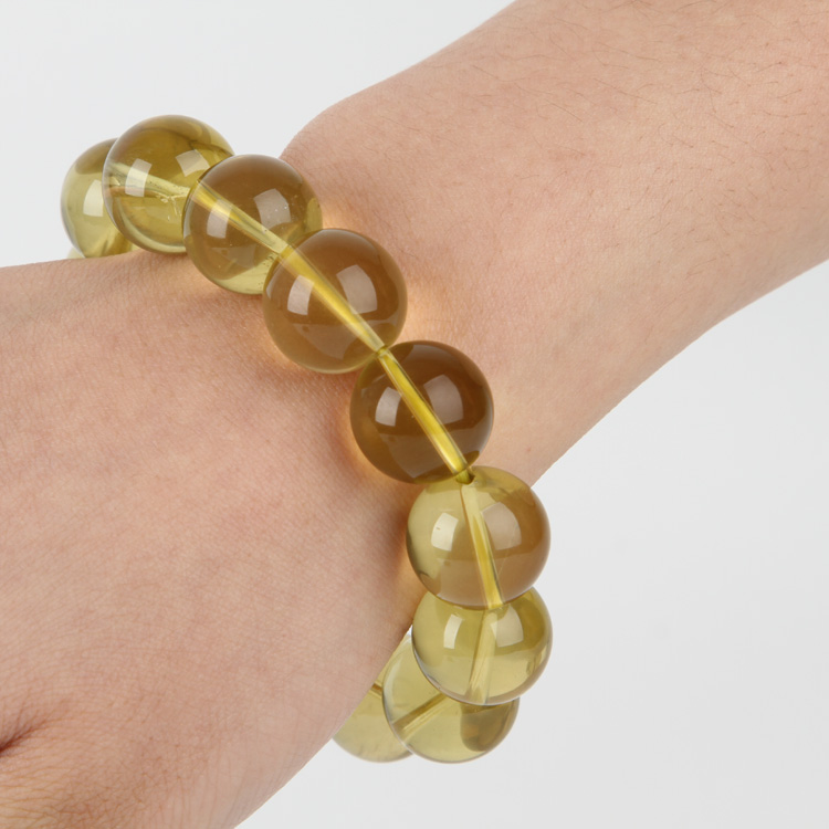 5A级纯天然柠檬黄水晶手链
