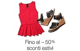 Sconti fino al -50% Amazon Moda