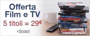 Offerta Film e TV: 5 titoli = 29EUR