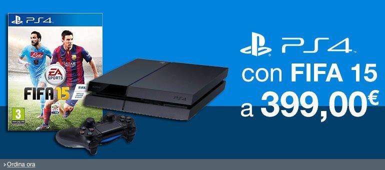PS4 + FIFA 15 a 399,00 EUR