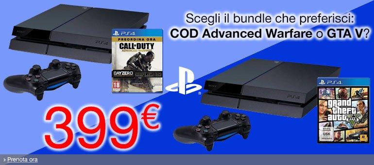 PS4 bundle a 399 EUR