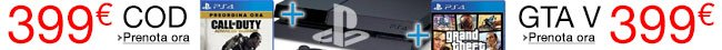 PS4 in bundle a 399 EUR