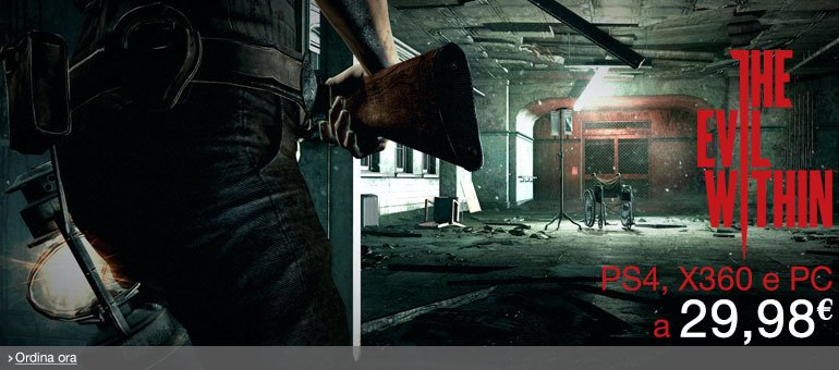 Ordina ora The Evil Within per PS4, Xbox 360 e PC a 29,98 EUR