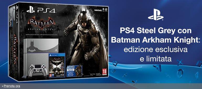 Prenota ora PS4 + Batman Arkham Knight Official Bundle