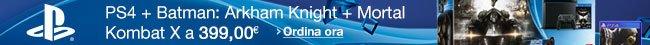 PS4 + Batman:Arkham Knight + Mortal Kombat X