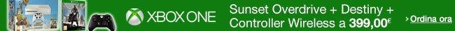 Ordina ora Xbox One White + Sunset Overdrive + Destiny + Controller Wireless [Bundle]