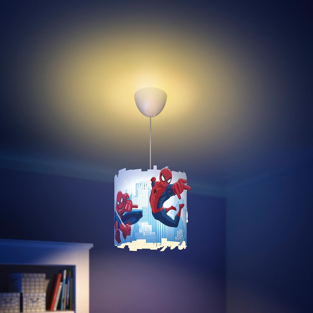 Philips e Disney, Lampadario Sospensione LED, Paralume Spiderman  Philips  Amazon it  Illuminazione -> Lampadario Cameretta Spiderman