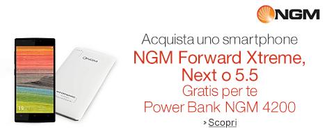 Power Bank gratis con selezione smartphone NGM
