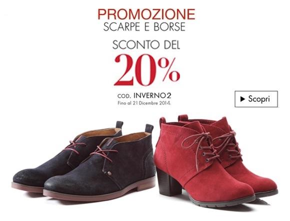 Sconto del 20% su Scarpe e borse: INVERNO2