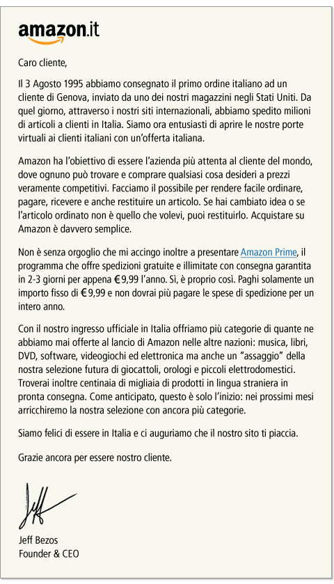 IT jeffletter Nov10. V194558896  Amazon in Italia: finalmente!