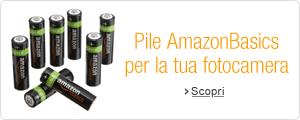 Pile AmazonBasics per la tua fotocamera