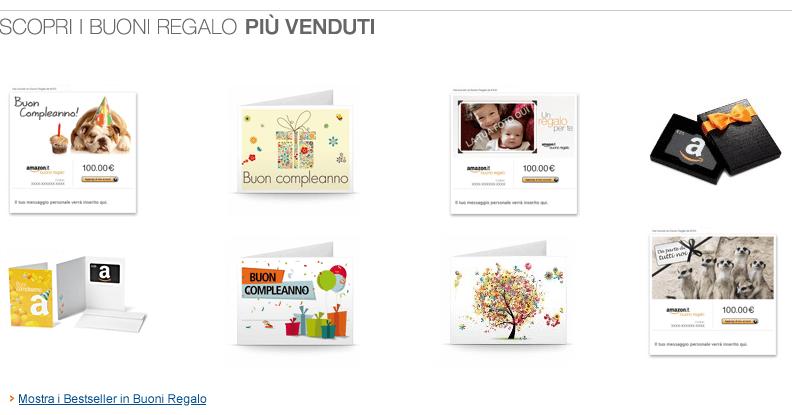Bestseller in Buoni Regalo