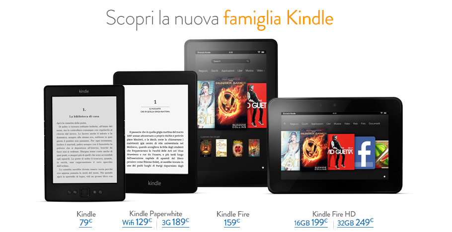 Confronta Kindle