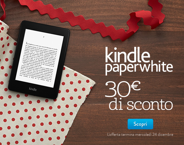 30 euro di sconto su Kindle Paperwhite