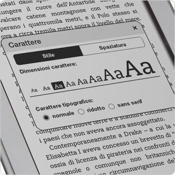 Scegli fra 8 grandezze del testo e 3 caratteri