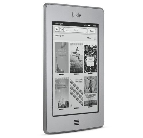 Kindle Touch, leggero e compatto