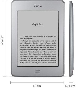Dispositivo di lettura Kindle: 16,6 cm x 11,4 cm x 0,87 cm