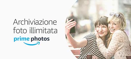 Prime Foto: spazio di archiviazione foto gratuito e illimitato