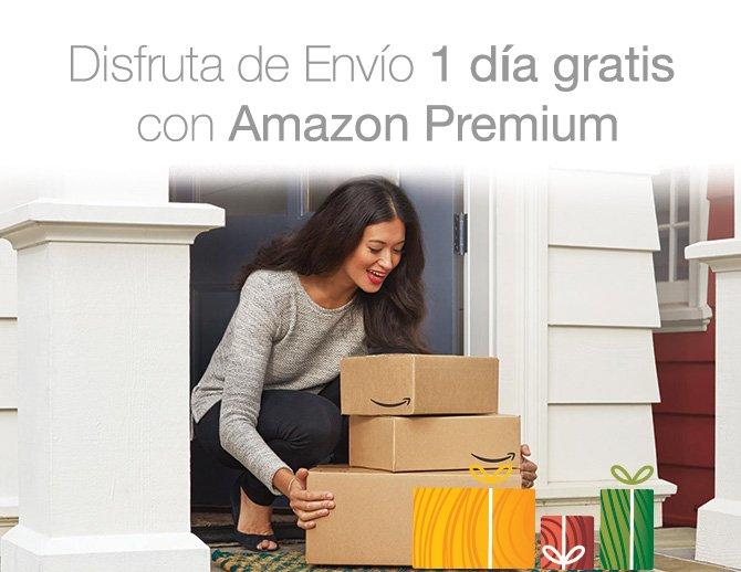 Disfruta de Envío 1 día gratis con Amazon Premium