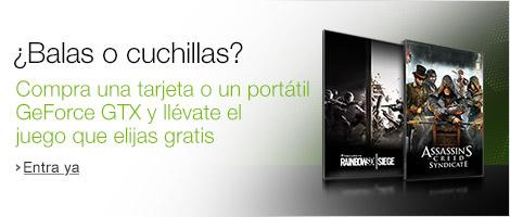 Compra una tarjeta gráfica NVIDIA GeForce GTX y llévate el juego que elijas gratis