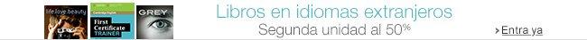 Libros en idiomas extranjeros: -50% en la segunda unidad