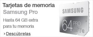 Tarjetas de memoria Samsung PRO