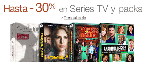 Hasta -30% en Series TV y packs