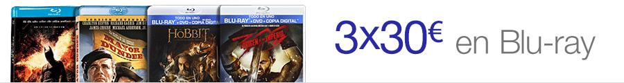 3x30€ en más de 900 títulos Blu-ray