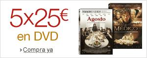 5x25� en DVD
