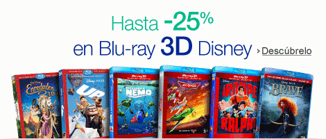 Hasta -25% Blu-ray 3d DIsney