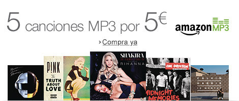 5 canciones MP3 por 5 euros