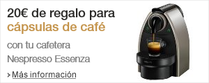 Promo 20� para c�psulas Nespresso Essenza