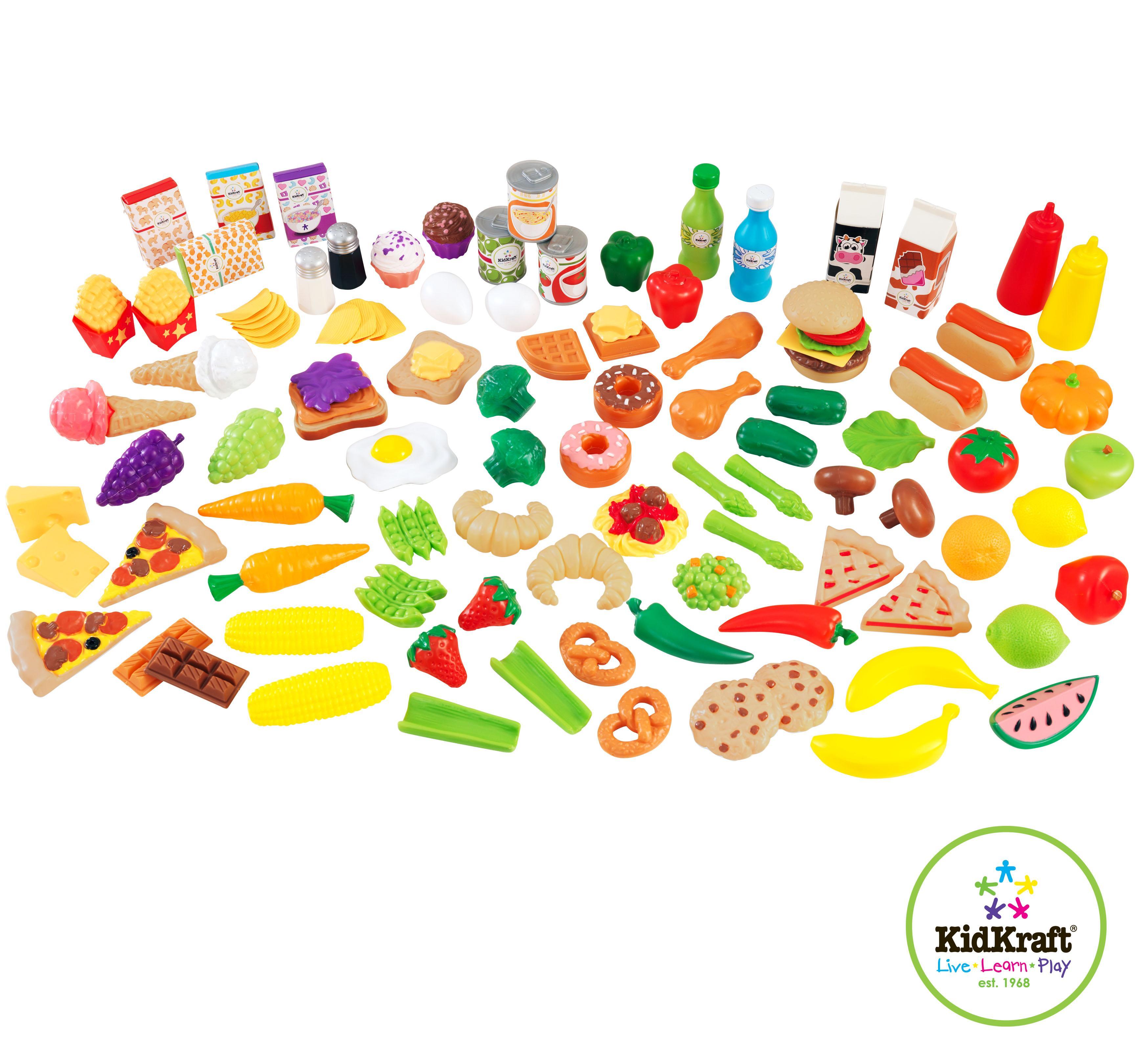 Hermosa Cocinas De Juguete Y Comida De Juguete Ilustración - Ideas ...