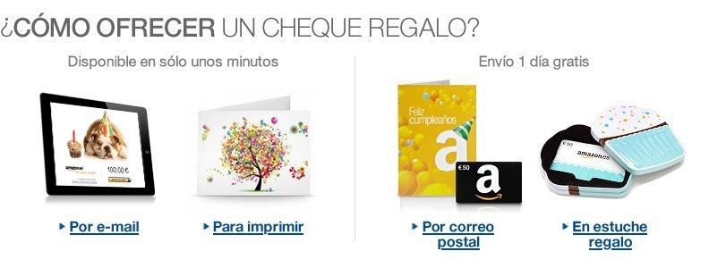 Chèques regalo Amazon.es