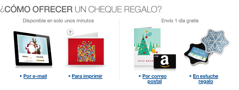 Chèques regalo Amazon.es