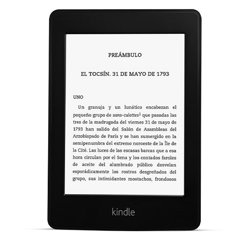 El e-reader Kindle Paperwhite