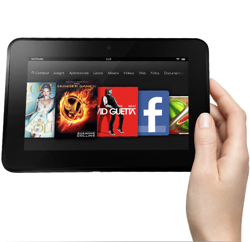 Kindle Fire HD, con una sola mano