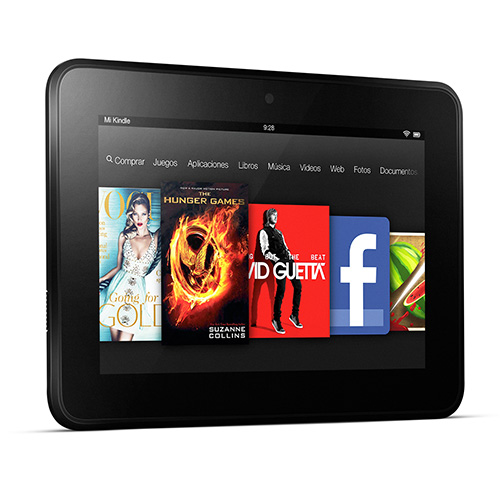 Kindle Fire HD visto de frente