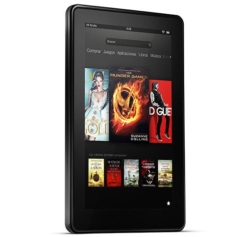 Kindle Fire visto de frente
