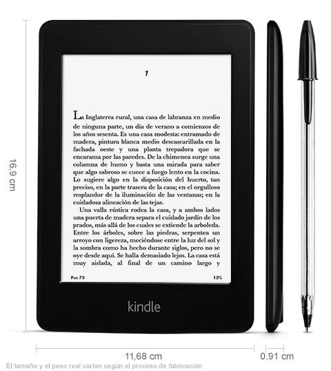 """Kindle Paperwhite, pantalla de alta resolución de 6"""" (15"""