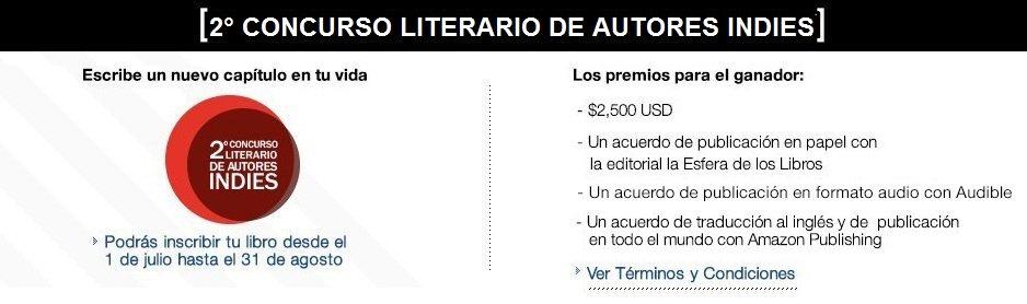2 CONCURSO LITERARIO DE AUTORESINDIES