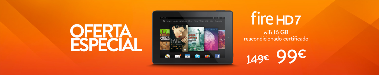 Kindle Fire HD 7 Wifi 16 GB reacondicionado certificado
